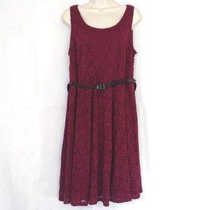 Lane Bryant Overlay A-Line Dress Plus Size 14W